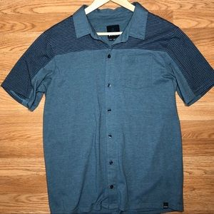 Mens Prana Cotton Blend Button up Shirt
